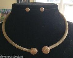 Crystal Choker Necklace Wrap + Post Earrings Set Jewelry Wedding Pageant Beauty #DavenportDesigns