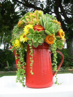 Bouquet da sposa succulenti,
