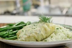 Poached Cod With Dill Sauce