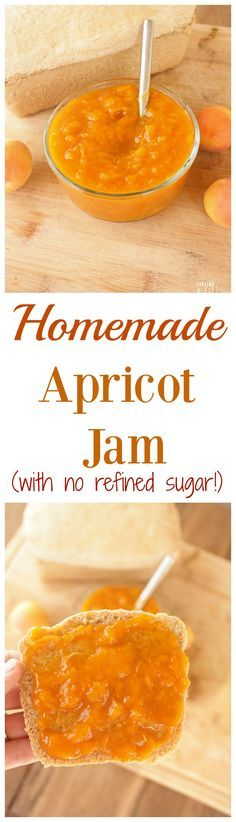 This homemade apricot jam is SUPER easy, and isn't loaded with sugar!