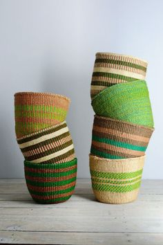 Quality African baskets in a range of colours. We are an ethical UK company selling storage baskets woven by women's fairtrade co-operatives. Baskets On Wall, Storage Baskets, Wicker Baskets, Woven Baskets, Rope Basket, Basket Weaving, Deco Kids, Deco Boheme, Bunt
