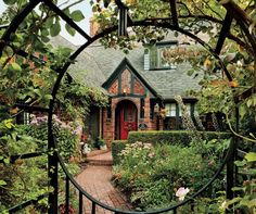Is this the forest house?? - livA 1920s Tudor house blends vintage charm and cozy furnishings.