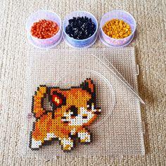 Kitten hama mini beads by vdharmadi