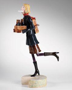 'New Mum' by Craig Mitchell. Ceramic sculpture. £1750.   info@whitehousegallery.com  01557 330223