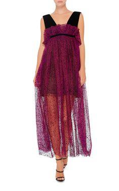 Spray Flock Tulle Risque Dress by Isa Arfen   Moda Operandi