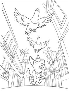 Bolt And Bird Coloring Page - Bolt car coloring pages