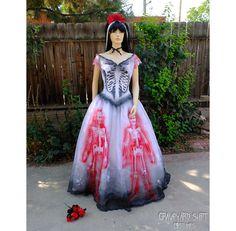 Sugar Skull Costume // Dia de los Muertos Bride // Skeleton dress // Halloween Costume // Spanish Dancer // Day of the Dead Dress // Size XL