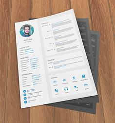 FREEBIE: Flat Free Resume Template - Download Free Templates on HeyDesign.com