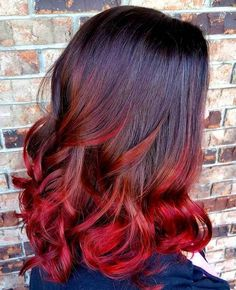 black+to+red+ombre