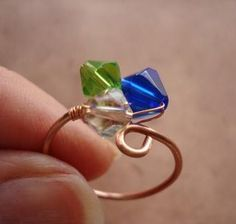 How to Make A Wire Wrapped Eye Pin Ring found at TheBeadingGem.com