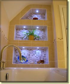 Modern, bathroom, photo, Belfast, shelves, storage, layout