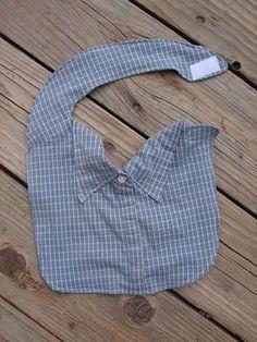 Babylätzchen aus alten Herrenhemden