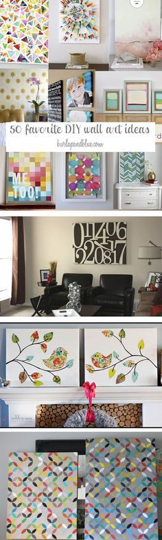 DIY Wall Art Ideas-Favorite Wall Art Crafts and Tutorials (Diy Art Canvases) Blue Crafts, Diy And Crafts, Arts And Crafts, Paper Crafts, Diy Wand, Wall Art Crafts, Diy Wall Art, Diy Artwork, Decor Crafts
