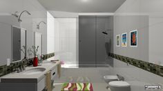 Diseño Interior de un baño Infantil www.lauraartola,com
