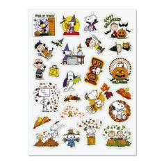 PEANUTS® Fall Stickers $3.98