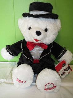 2011 Snowflake Teddy Bear 25th Anniversary White Black Tux Christmas Holiday in Collectibles, Holiday & Seasonal, Christmas: Current (1991-Now) | eBay