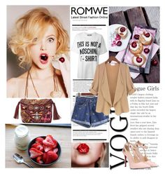 """""""ROMWE 5/9"""" by antonija2807 ❤ liked on Polyvore featuring Arche, Gypsy05, Moschino and romwe"""