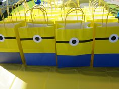Minion Deable Me Handmade Loot Party Favor Bags So Easy
