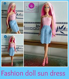 Fashion doll sun dress pattern by Maz Kwok