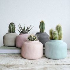 Pastel home accessories: flower pots for indoor plants - Scandinavian Interio . - Pastel home accessories: flower pots for indoor plants – Scandinavian Interiors # flower pot … - Cactus Flower, Flower Pots, Cactus Cactus, Cactus Decor, Flower Bookey, Flower Film, Flower Band, Indoor Cactus Plants, Garden Art