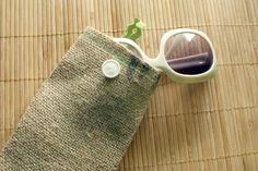 DIY Bag Sunglasses Case DIY Burlap Sunglasses Case DIY Bag Sunglasses Case
