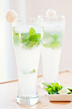OMG a Lychee Mojito - I love Lychee Martinis and Mojitos - gotta try this one! --This world is really awesome.