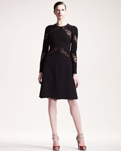 Lace & Crystal Dress by Valentino at Neiman Marcus.