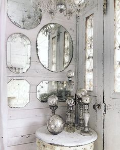 modern french country decor are offered on our internet site. Check it out and you wont be sorry you did. Bathroom Mirror Lights, Old Mirrors, Vintage Mirrors, Mirror Mirror, Mirror Ball, Sunburst Mirror, Wall Of Mirrors, Etched Mirror, Mirror House