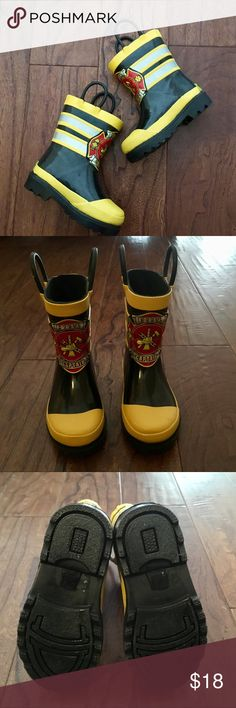 Western Chief Fireman Rain Boots NWOT. Western Chief Firefighter Toddler Rain Boots. Never Worn. Super Cute!! Size 5/6. These run large in my opinion. Western Chief Shoes Rain & Snow Boots