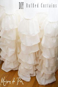 Maison de Pax: DIY:: Shabby Ruffled Curtains