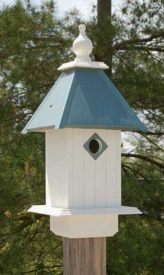 Wing & A Prayer Cathedral Bird House, Verdigris Roof at BestNest.com