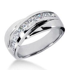 Platinum men's wedding band. He loves his bling
