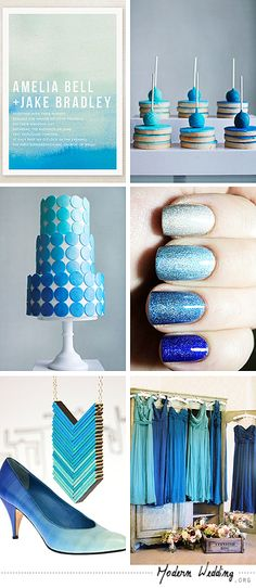 blue ombre wedding