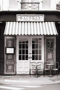 Paris Cafe Photograph Malabar Cafe Large Wall Art French