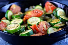 Zucchini recipes are great year-round, but especially throughout the summer. This easy skillet zucchini recipe brings a stir fry flair to a weeknight favorite side dish!