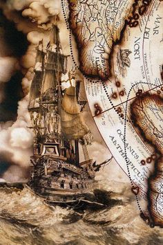 Vintage map murals painted on an entry foyer elevator and ceiling for a nautical themed home on the Gulf of Mexico. Map Tattoos, Sleeve Tattoos, Ship Tattoo Sleeves, Pirate Map Tattoo Sleeve, Sea Tattoo Sleeve, Tattoo Ship, Tattoo Drawings, Karten Tattoos, Pirate Maps