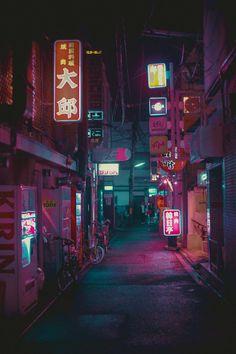 N i g h t l i f e - emovere cyberpunk city, aesthetic wallpa Aesthetic Japan, Neon Aesthetic, Night Aesthetic, Aesthetic Anime, Korean Aesthetic, Japanese Aesthetic, Cyberpunk City, Cyberpunk Aesthetic, Cyberpunk Fashion