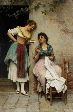 Eugene de Blaas - The love letter