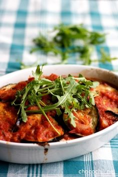 Baked aubergines with tofu Raw Food Recipes, Vegetarian Recipes, Healthy Recipes, Vegan Food, Food Food, Healthy Meals, Healthy Food, I Love Food, I Foods