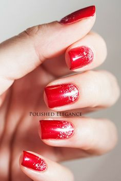 Sparkly red nails❤❤❤