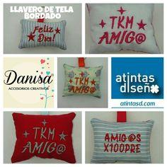 LLAVEROS CON FRASES. BORDADO TODO A PEDIDO. ENVIOS A TODO EL PAIS. www.atintasd.com Carrito de compra on line