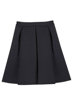 Ribbed Pleated Skirt