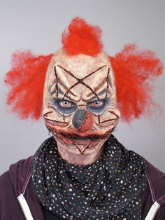 Satanic clown special effects makeup idea / Pairs great with red/blue exorcism contacts => http://www.pinterest.com/pin/350717889705974460/