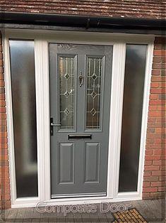Where To Which Door – Get An Idea Grey Front Doors, Solid Doors, Exterior Doors, Interior And Exterior, Veranda Design, Traditional Front Doors, Apartment Entrance, Front Porch Design, Composite Door