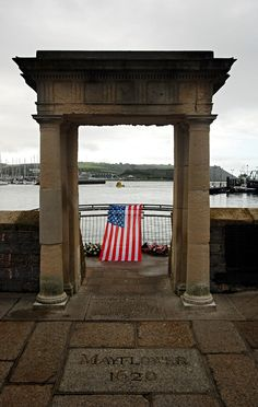 On this day 6th September, 1620, 149 Pilgrims, The Pilgrim Fathers, set sail from Plymouth in the Mayflower bound for America-the New World. The Pilgrim's story of seeking religious freedom has become a central theme of the history and culture of the United States (The Mayflower Steps in Plymouth)