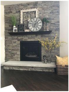 Farmhouse Fireplace Mantels, Brick Fireplace Makeover, Fireplace Ideas, Modern Fireplaces, Fireplace Design, Fireplace Whitewash, Brick Fireplace Decor, Corner Fireplaces, Fireplace Frame