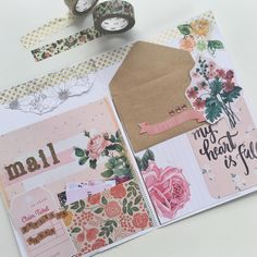 Snail Mail ❤ Outgoing floral mail