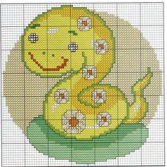 ponto+cruz+animais+florido+infantil-cobra.jpg (1514×1518)