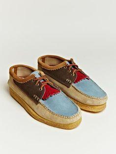 Yuketen Men's Blutcher Kiltie Shoes