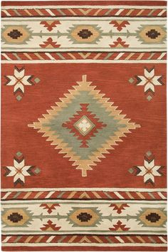 Rizzy Rugs Southwest SU-1822 Navajo Red Area Rugs